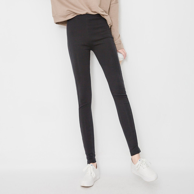 2016 Autumn Winter Women Warm Legging Elastic Mid Waist Thick Stretch Slim Pants Ankle-Length Trousers