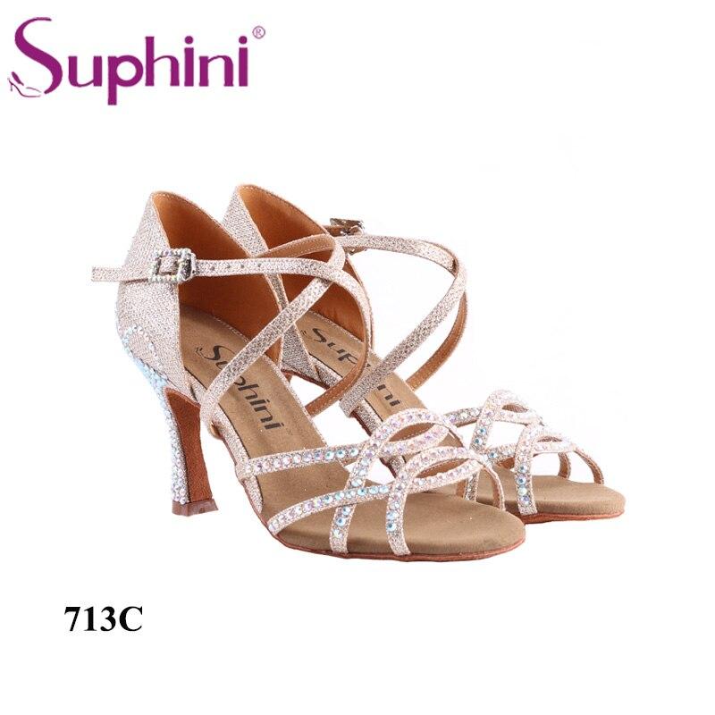 Talon professionnel 8.5 cm hauteur de talon Suphini chaussures de danse latine