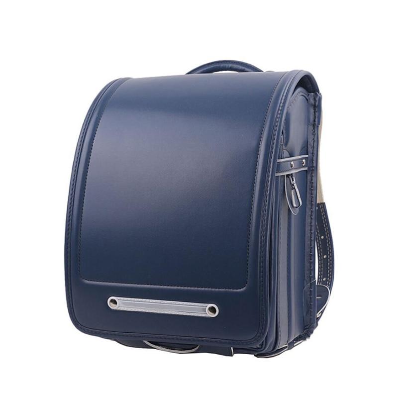 소년과 소녀 배낭을위한 고품질 수제 어린이 학교 가방 pu hasp 일본 어깨 가방 어린이 정형 bookbags mochila-에서학교가방부터 수화물 & 가방 의  그룹 1