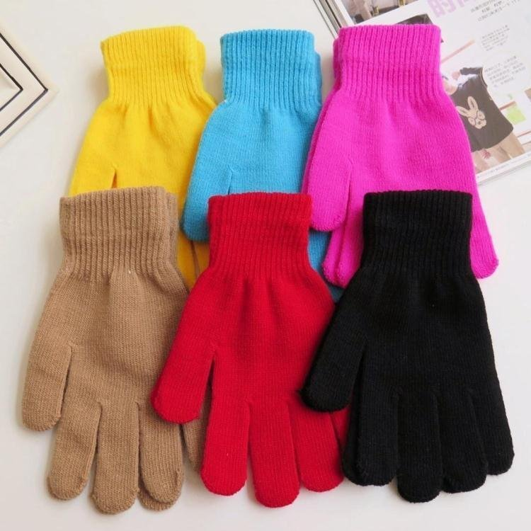 Spring And Autumn Men And Women's Short Thin Fingers Gloves Knitted Magic Solid Color Glove R723