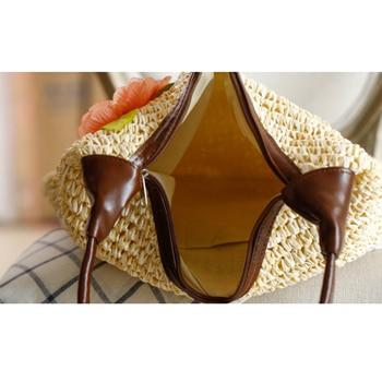 OCEHNUU Summer Vacation Women Beach Bags straw Totes Bag 2020 Bolsa Feminina Big Fashion Women's Bags Shoulder Bag Flower Zipper 4