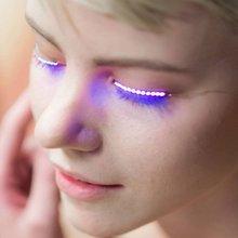 1 pair Flashes LED False Eyelashes Luminous Electronic Eyelid Waterproof Fake Eyelashes For Party For Costume Salon Pub