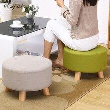 Sufeile твердой древесины Детские стул творческий Ткань диван низкий стул творчески для обуви стул украшение дома стул D50