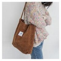 Corduroy Shoulder Bags Environmental Shopping Bag Tote Crossbody Bag Handbag