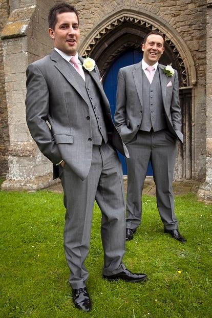 Latest Coat Pant Designs Grey Men\'s Wedding Suit Loose Classic ...