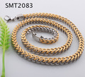 Two Tone 316l stainless steel link chain necklace jewelry for men biker necklace jewelry w/gold plated SMT2083