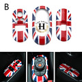 3pcs/set Car Window Lifter Switch Cover Control Panel Cover Sticker Decoration for Mini F55 F56 Union Jack Checker