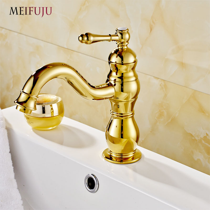 Bathroom Faucets Gold Finish bathroom faucets gold promotion-shop for promotional bathroom