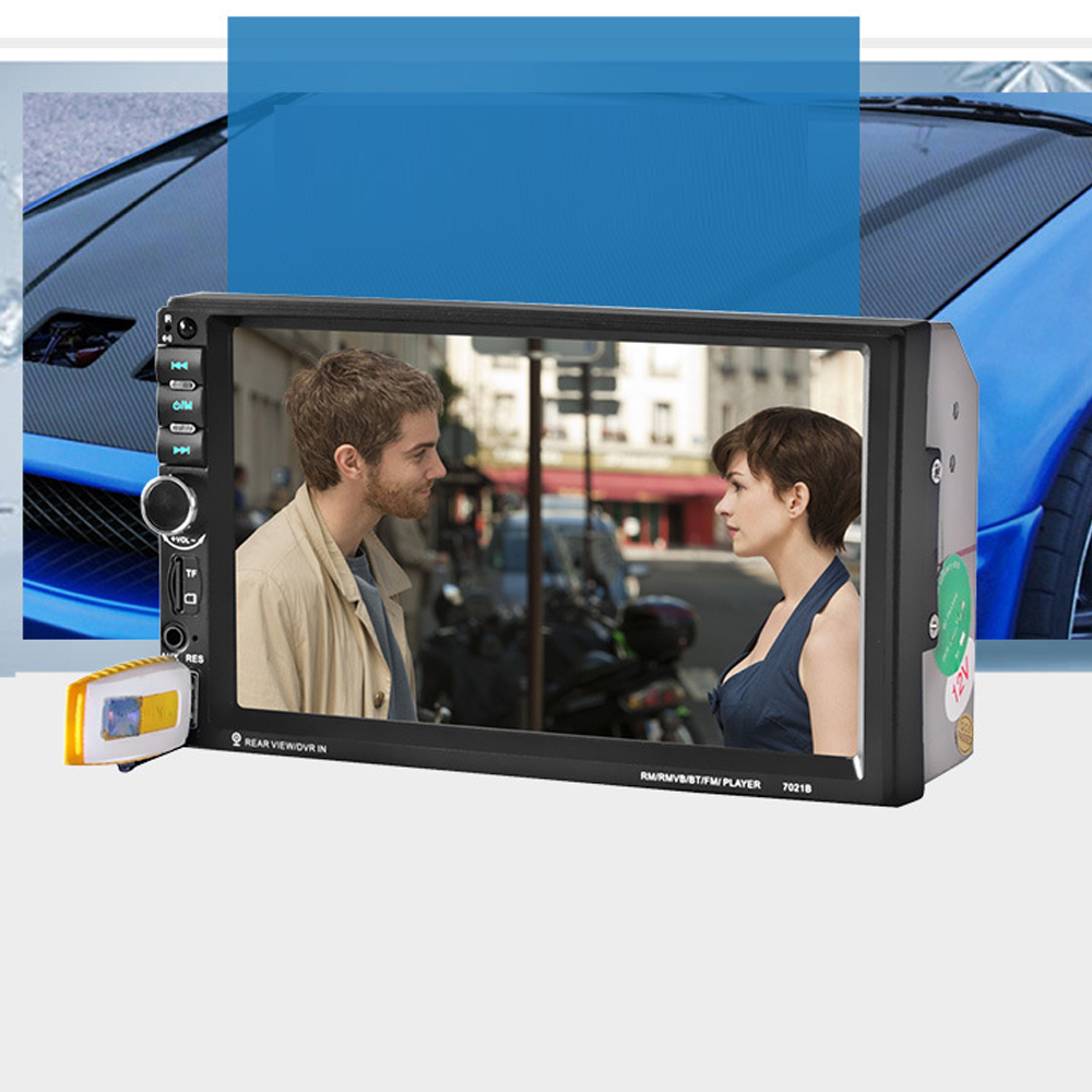 7In HD 2 Din Touch Screen Bluetooth Stereo Radio FM/1080P/MP5/MP4/MP3/Audio/USB Auto Electronics In Dash Car Video Player 7 1080p hd touch screen car stereo mp4 mp5 player 2 din bluetooth 3 0 in dash aux fm radio usb sd audio video remote control
