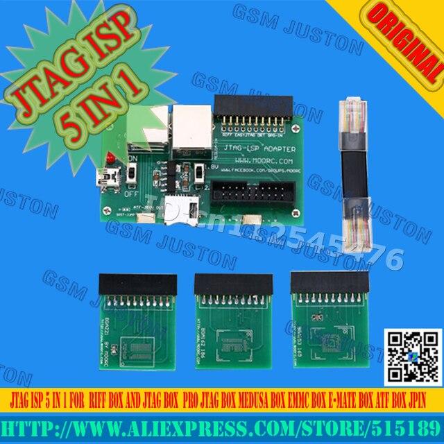 ISP Adaptador 5 Em 1 Para J-tag Caixa & caixa emmc