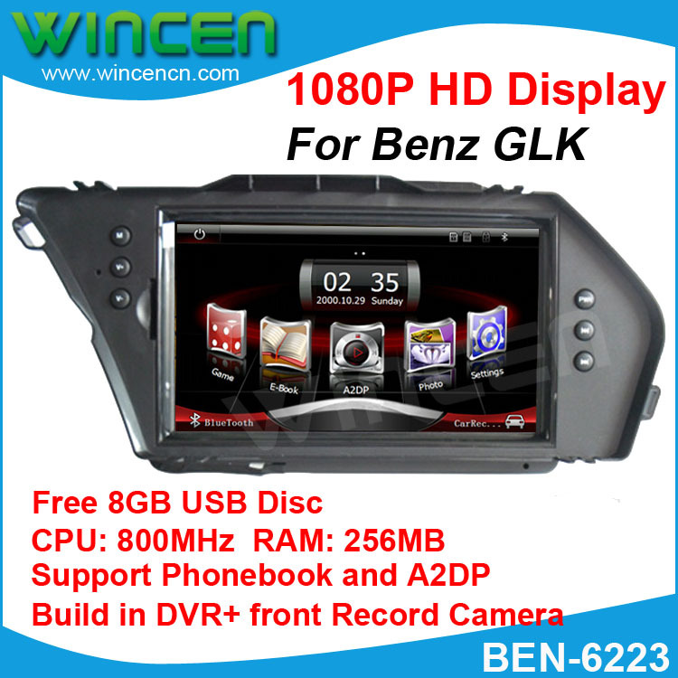 2013 Newest 1080P 7 Car DVD font b GPS b font Player for BENZ GLK 800MHz