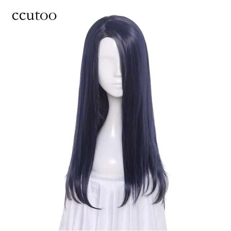 Ccutoo 60 см синий серый микс косой пробор стиле Синтетические волосы игры sinoalice принцессы Кагуя Косплэй ful Искусственные парики теплостойкость