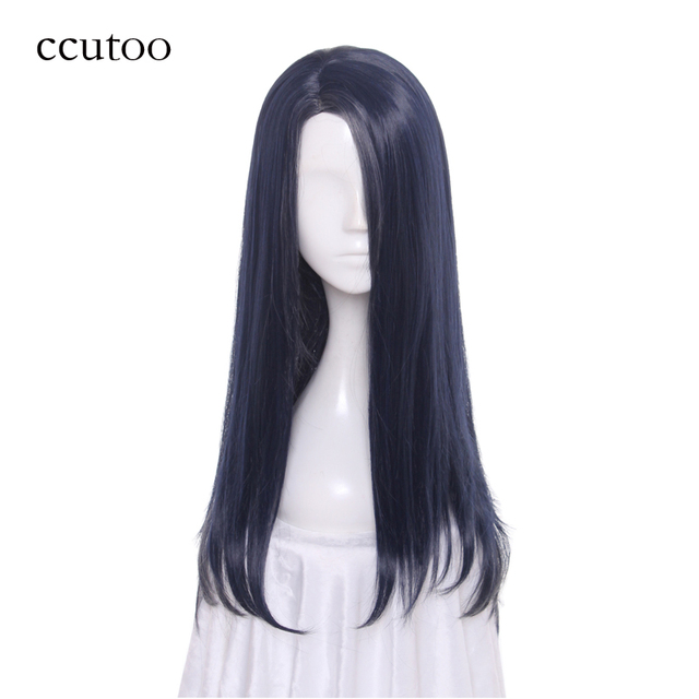 Ccutoo 60cm Blue Grey Mix Side Parting Styled Synthetic Hair Game