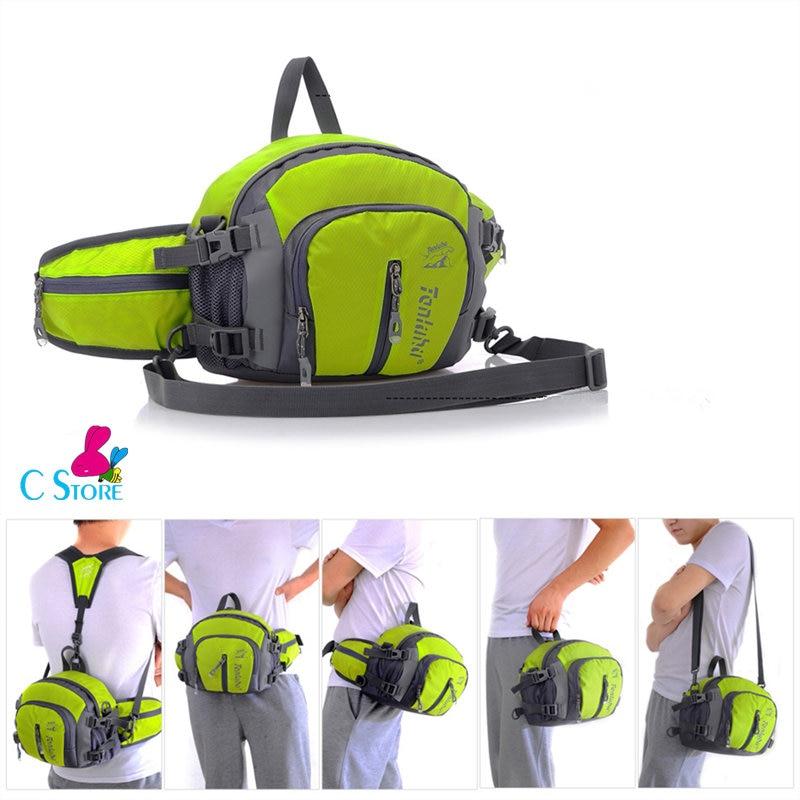 5 In 1 Men Women Running Waist Bag Pack Outdoor Sports Fitness Jogging Running Cycling Belt Bags With Water Bottles Holder