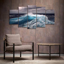 5 Panel Wall Picture Home Decor Canvas Decor for Living Room Canvas Painting Wall Art Picture Print on Seawater Poster No Frame(China)
