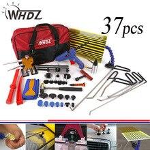 WHDZ 37pcs Paintless Dent Repair Master – PDR Tools Set PDR Rods Dent Hammer Gule Gun Pdr Line Borde