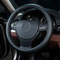 Car steering wheel cover genuine leather for nissan almera classic n16 juke note pathfinder primera tiida nv200 qashqai j10