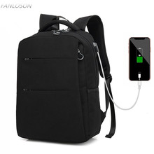 FANLOSN New Style USB charging port Man 15.6 inch Laptop Backpack Daily Work Waterproof  Bag Teenage Girls School
