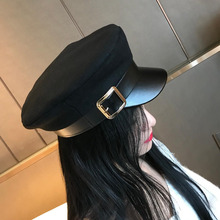 Fashion Wool Solid Visor Military Hat Autumn And Winter Vint