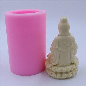 Image 4 - Chinese Bodhisattva Silicone Candle Mold Avalokitesvara Candle Mould Buddha Silicone Mold for Candles