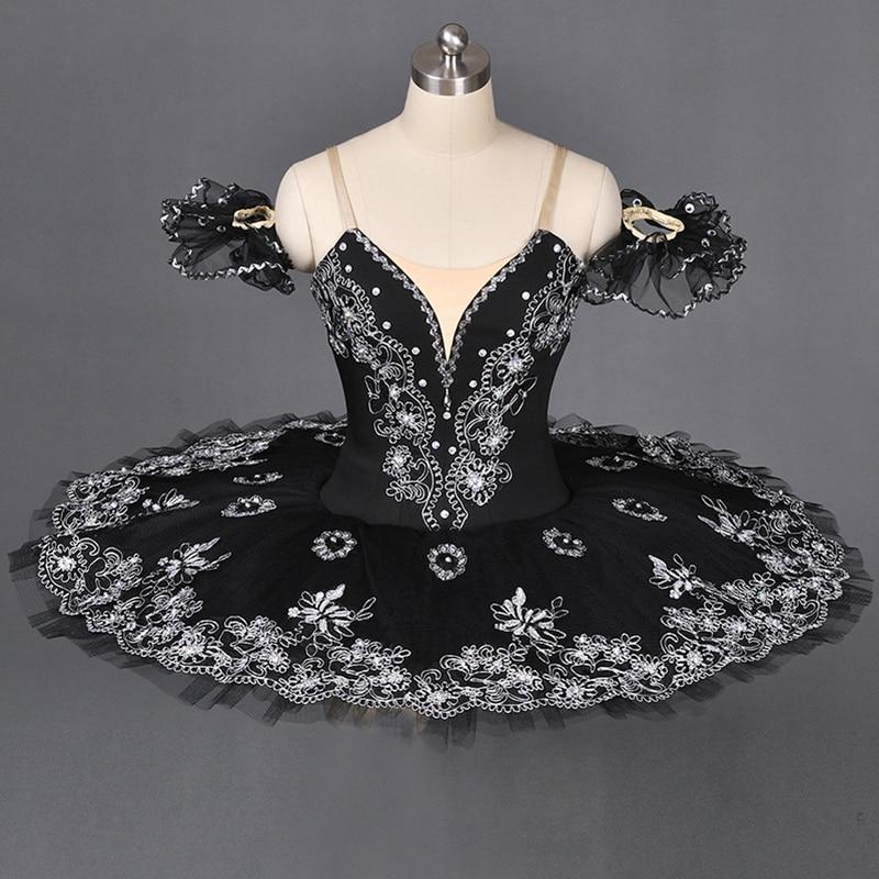 Для взрослых девочек черный Лебединое озеро балетная пачка классическая балерина платье Для женщин профессиональная балетная пачка для пр