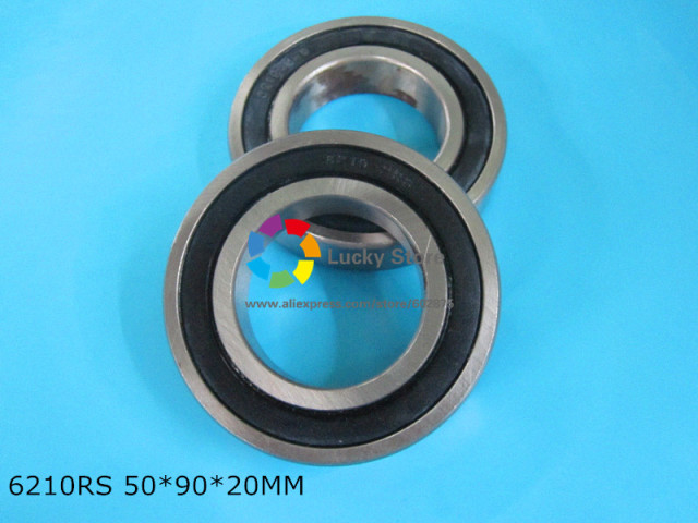 6210 6210RS 1Piece bearing CHROME STEEL DEEP GROOVE BEARING 6210 6210RS 50*90*20mm