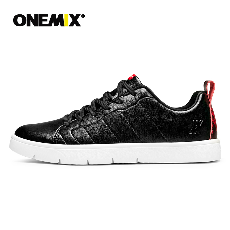 ONEMIX 2019 Men Black Casual Shoes Lightweight  Women White Platform Sneakers zapatillas mujer