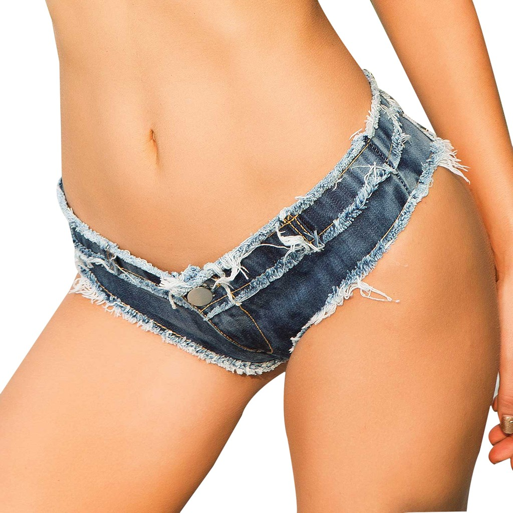 Sexy Vintage Mini Short Jeans Booty Shorts Cute Bikini Denim Sexy Women Denim Jeans Low Waist Super Mini Shorts Pants   Z0430