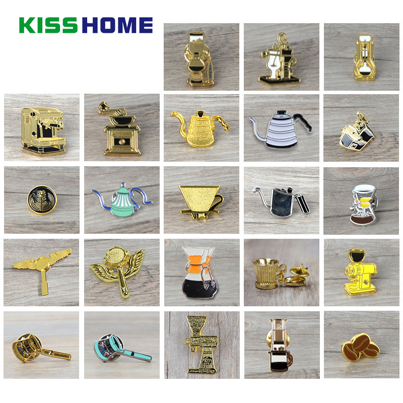 Couple Espresso Accessories Coffee Maker Brooch Mini Coffee Tamper Beautiful Coffee Badge Cafe Gift for Coffee Lovers
