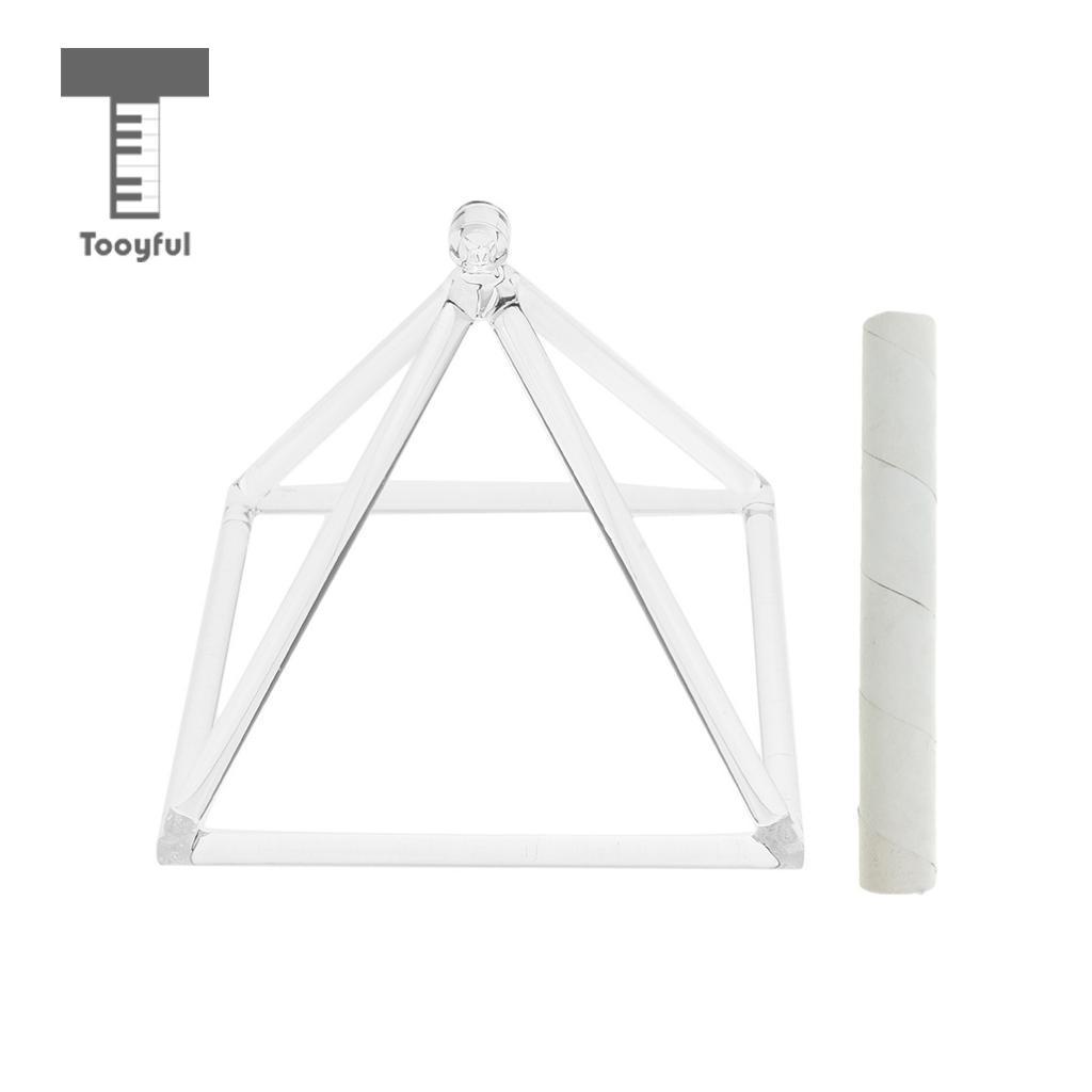 Tooyful 9'' Quartz Crystal Singing Pyramid F Note with Suede Mallet Striker for Yoga Meditation стоимость