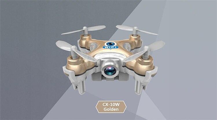 16 Cheerson CX-10W CX 10W Drone Dron Quadrocopter RC Quadcopter Nano WIFI Drone with Camera 7P FPV 6AXIS GYRO Mini Drone 5
