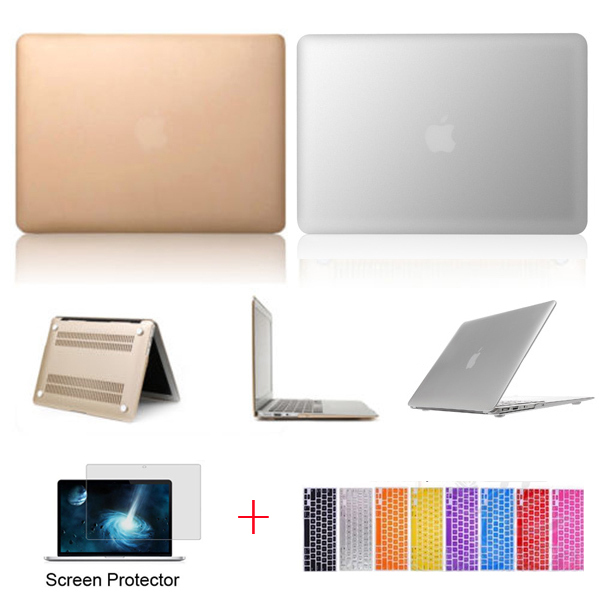 half off 451e8 bd7a0 US $11.69 |Luxury The Latest Champagne Gold Silver Sleeve Cover Hard Case  Shell for Apple Macbook Air 11 13 Pro 13 15 Retina 13 15 inch-in Laptop  Bags ...