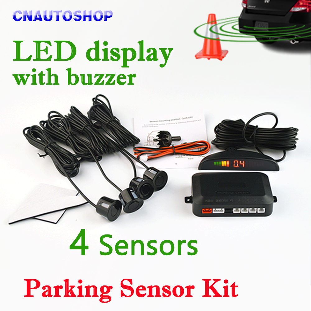 Viecar Car LED Parking Sensor Kit 4 Sensors 22mm Backlight Display