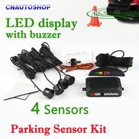 Car LED Parking Sensor Kit Display 4 Sensors 22mm 12V 7 Colors Reverse Assistance Backup Radar