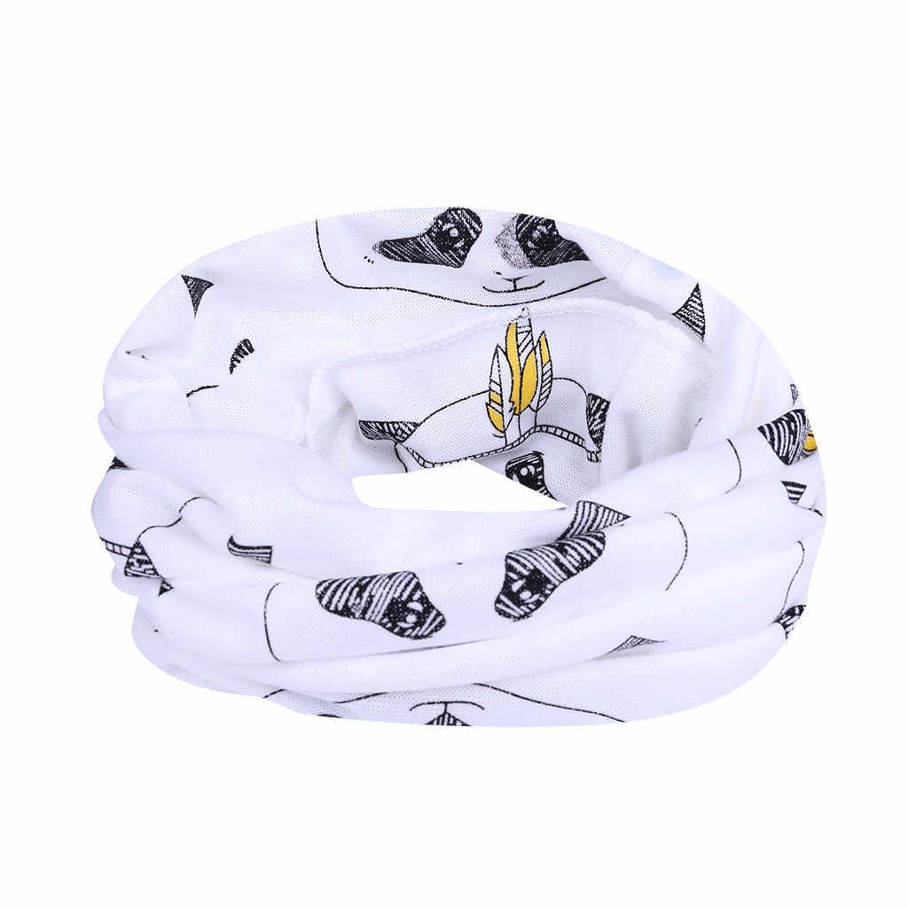 Bayi Lucu Anak Gadis Syal Selendang Bunga Kain Topi Sun Topi Hollow Semi Musim Gugur Syal Anak Hangat Kapas O cincin Selendang Syal