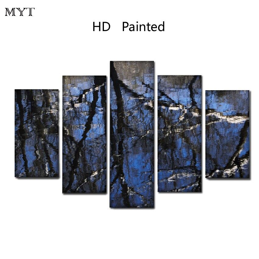 Большие размеры горячая Распродажа отражение воды HD напечатаны на холсте печати живопись современная стены Книги по искусству изображение...