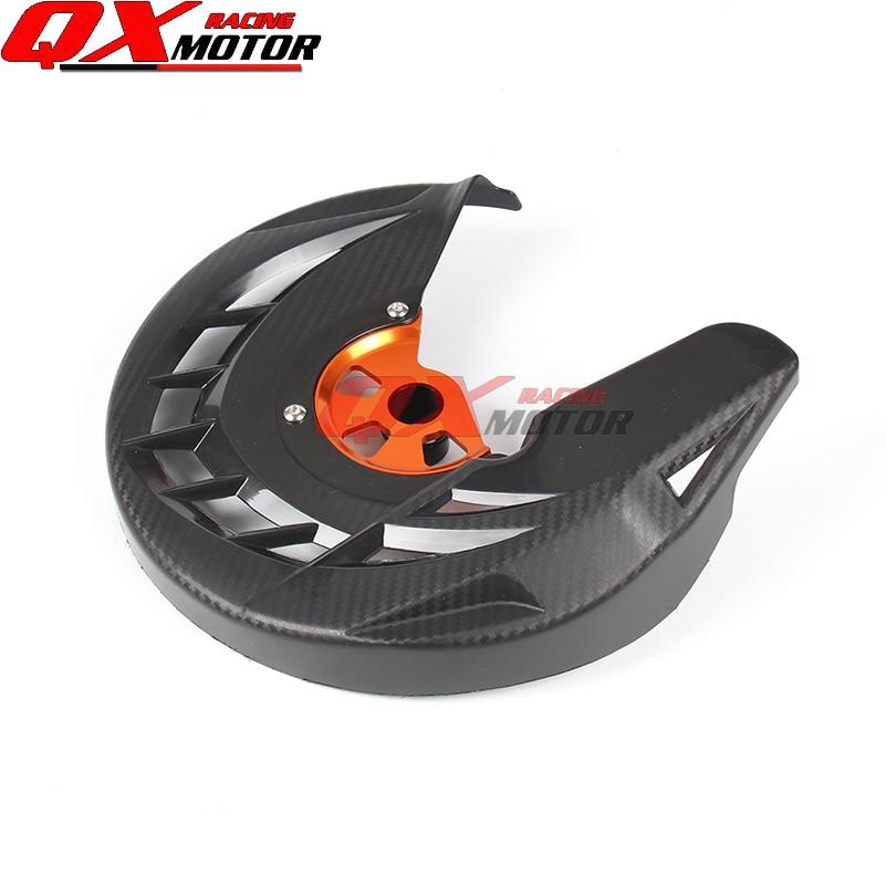 Rotor del disco de freno delantero de la motocicleta cubierta del protector negro fit KTM SX SXF XC xcf exc excf 125 200 250 300 350 450 530