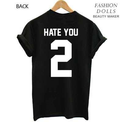Women Fashion Geek Swag Funny Tops blusas femininas Casual T shirt     Women Fashion Geek Swag Funny Tops blusas femininas Casual T shirt Hate 2  Letter Print t shirts Tee Free Shipping Big Size in T Shirts from Women s  Clothing