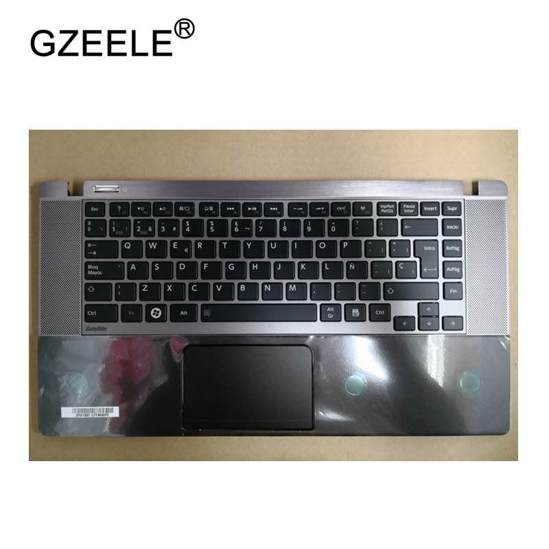 GZEELE New laptop upper case base cover for Toshiba U840w U845w  Palmrest topcase Keyboard Upper cover with Touchpad gzeele new for lenovo thinkpad s1 yoga keyboard bezel palmrest cover with touchpad and connecting cable 00hm067 00hm068 black c