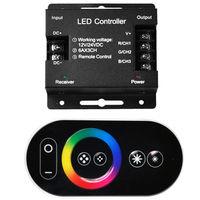 ไร้สายRFหรี่ควบคุมสัมผัสระยะไกล3528 5050 RGB LED Strip DC 12โวลต์18A 216วัตต