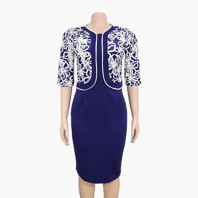 Elegant Dress Suits Women Slim OL Casual Office Ladies Business Formal Work Wear Blazer Pencil Dress Plus Size African Clothing