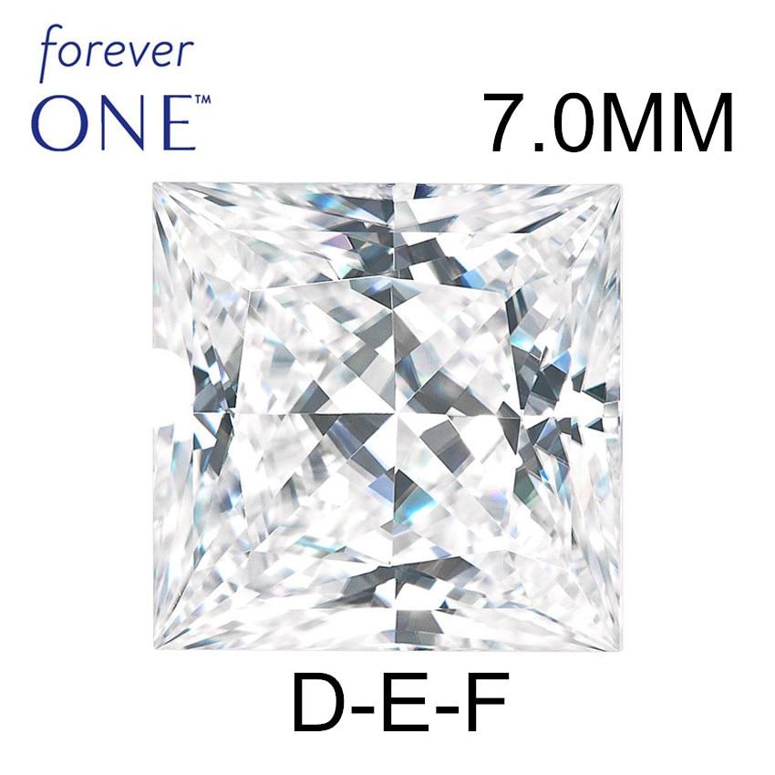 STARYEE Super Blanc 1.75CT 7mm VS DEF Incolore Princesse Cut Moissanite Diamants En Vrac Avec D'origine Charles Colvard Certificat