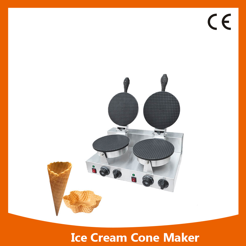 KW-2Y Snack equipments aluminum plate round ice cream waffle cone machine commercial waffle cone baker edtid new high quality small commercial ice machine household ice machine tea milk shop