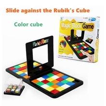 Рубикс гоночная доска игра родитель-ребенок слайд двойной Игра Головоломка Куб забавные Семья вечерние Волшебные кубики игрушки Пазлы для взрослых