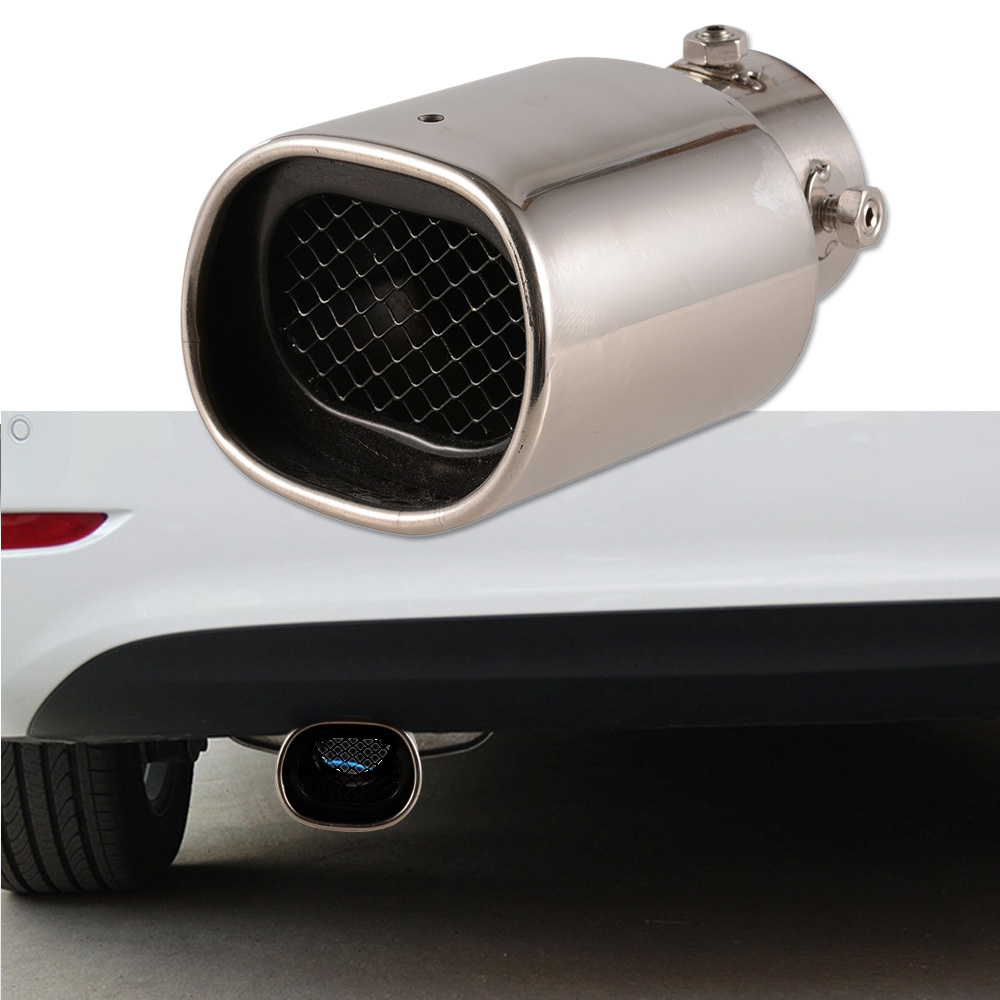 Stainless Steel Car Tail Exhaust Pipe Universal For Most Car Muffler Tips Chrome Modified Tail Pipe