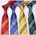 (10 unids/lote) poliéster Rayas Harry Potter Corbata para hombre lazos escolares