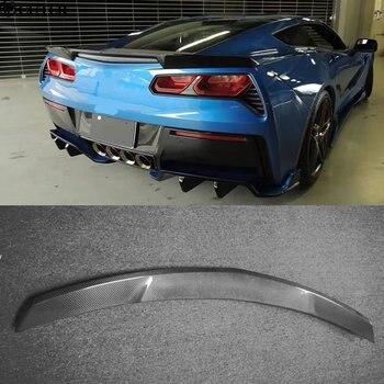 Alerón trasero de fibra de carbono para Estilismo de automóviles C7, alerón para Chevrolet Corvette C7 13-16