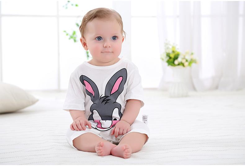 summer 2018 baby bodysuits 0-24M short sleeve body babies newborn baby girl boy clothing cotton infant jumpsuit cartoon costume 4