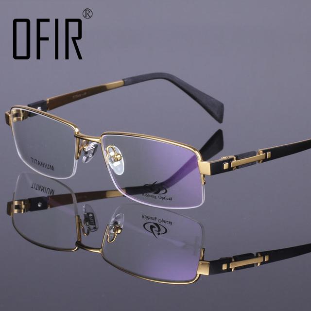 Titanium 100% Компьютерные Очки Анти-Усталости Радиационно-Стойких Очки Для Чтения Половины Кадра кадр Очки Óculos де грау YJ-1