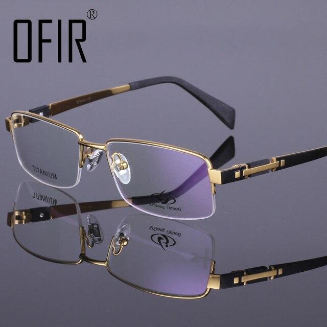 dc36d228cd9 Titanium 100% Computer Goggles Anti Fatigue Radiation Resistant Reading  Glasses Frame Half frame Eyeglasses Oculos